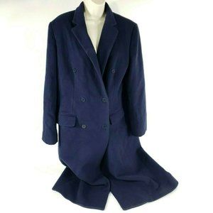 LRL Peacoat Trench Coat Navy Wool Cashmere Jacket